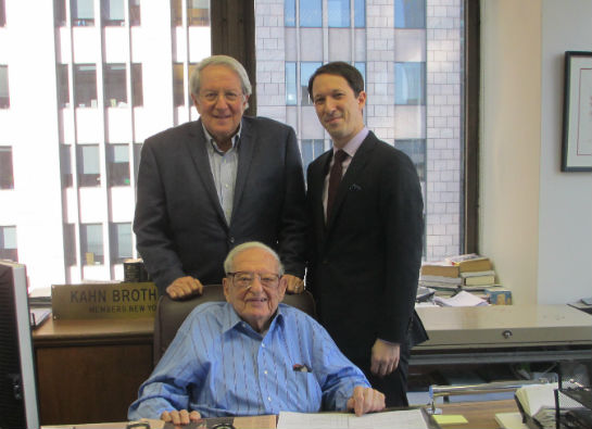 Irving Kahn, the Jewish Communal Fund's oldest living fund holder, turned 107 today.