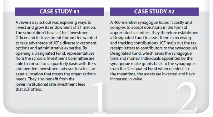 JCF Designated Funds - Case Studies