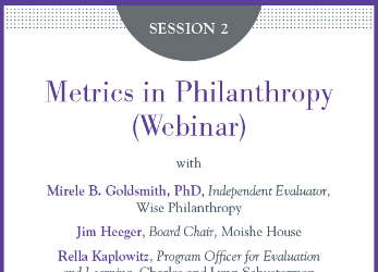 Watch the webinar recording on Metrics in Philanthropy